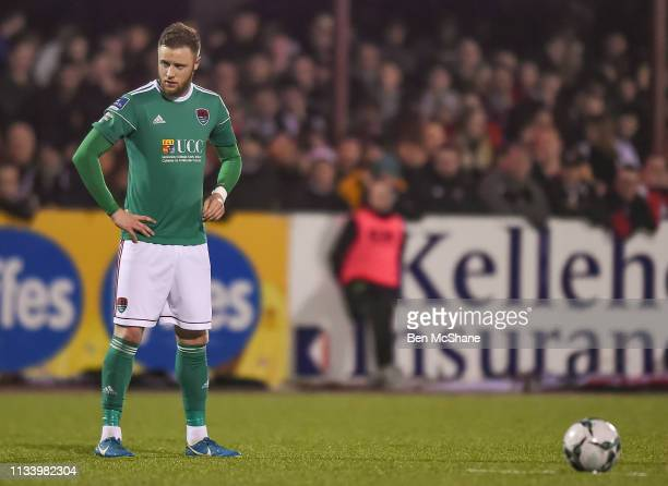 Louth , Ireland - 29 March 2019; Kevin O'Connor of Cork City prepares to take a free-kick during the SSE Airtricity League Premier Division match...