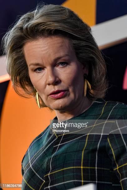 LouvainlaNeuve Belgium Visite de la Reine à l'UCLouvain à l'occasion de la première journée UCLouvain en transition Bezoek van de Koningin aan de...
