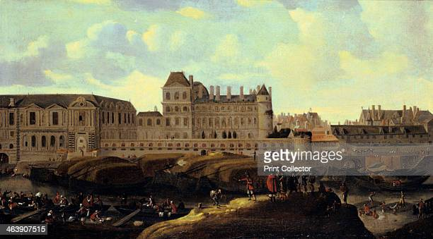 'Louvre and Petit Bourbon seen from the Seine' Paris 17th century From the Musee du Louvre Paris