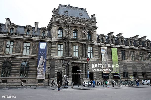 Louvre Museum is closed after heavy rain at SeineetMarne region of Paris in France on June 03 2016 French Government activates red alert due to...