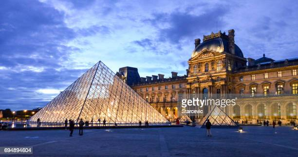 louvre museum - musee du louvre stock pictures, royalty-free photos & images