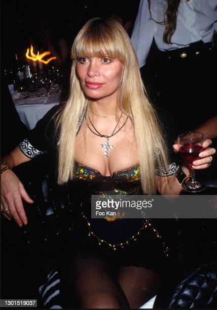 Lova Moor aka Marie-Claude Jourdain attends a Party at Le Palace Club during the 1990s, Paris, France.