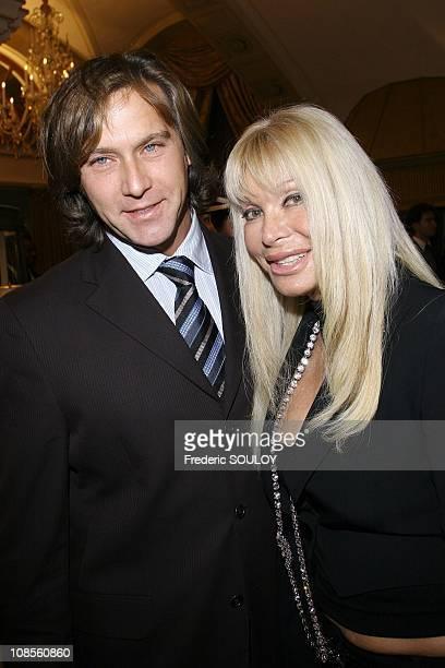 Lova Moor and her friend in Paris, France on December 11, 2006.