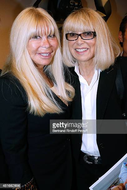 Lova Moor and host of the event, actress Mireille Darc attend 'Le Coeur Des Createurs' : Auction at Christie's on July 3, 2014 in Paris, France.
