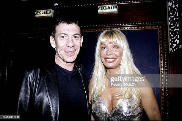 Lova Moor and singer Francois Feldman in Paris, France on March 07th, 2001.