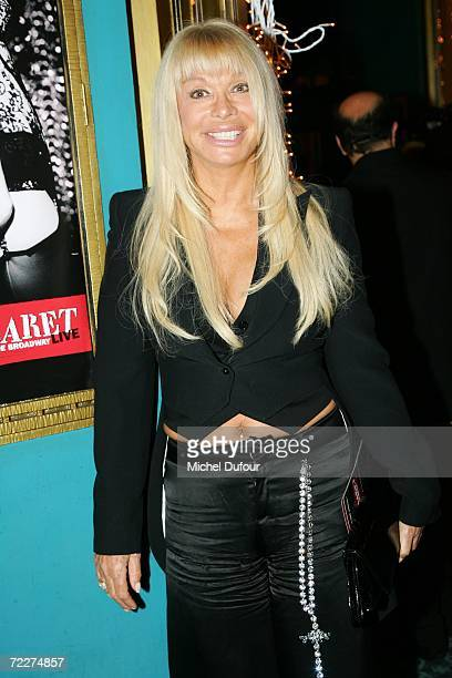 """Lova Moor attend the musical """"Cabaret"""" opening night at The Folies Bergere on October 26, 2006 in Paris, France."""