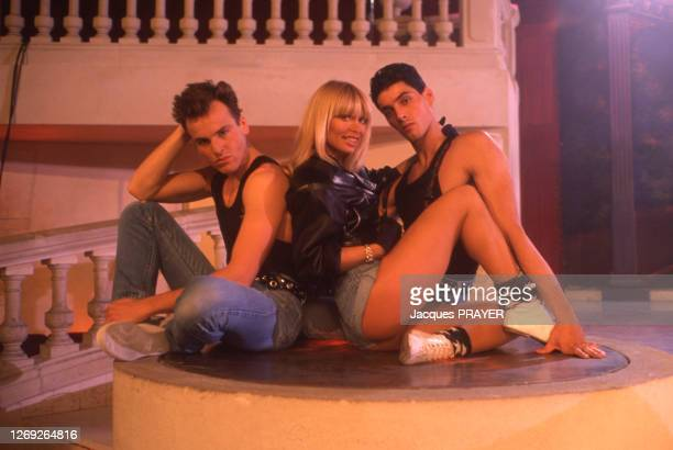 Lova Moor tourne le clip de sa chanson 'Et je danse' en décembre 1988, France.