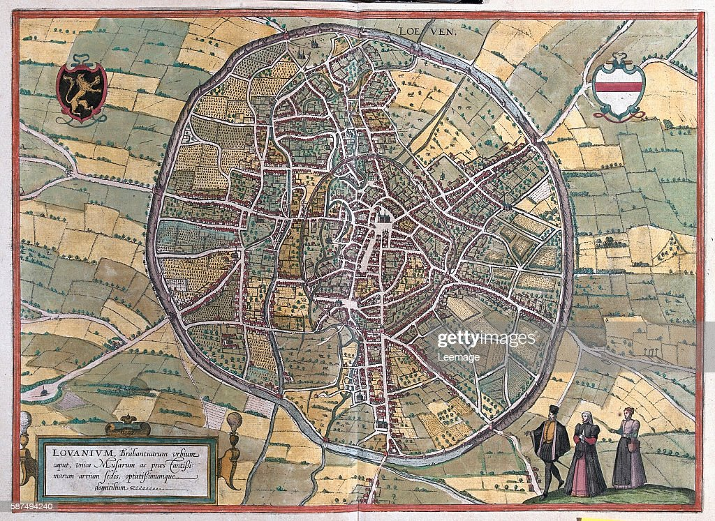 Map of Leuven from Civitates Orbis Terrarum Pictures Getty Images