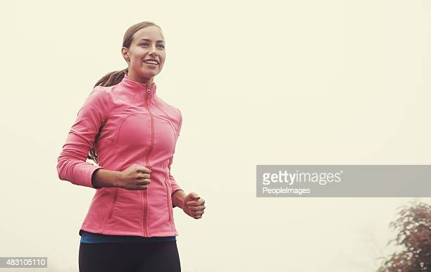 i love a misty morning run - peopleimages stock pictures, royalty-free photos & images