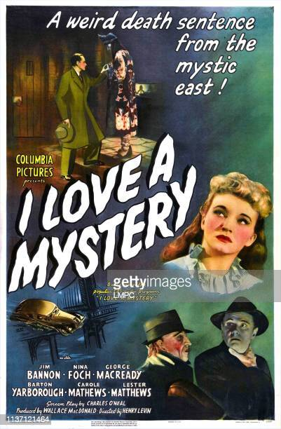 I Love A Mystery poster US poster Nina Foch bottom from left George Macready George Macready 1945