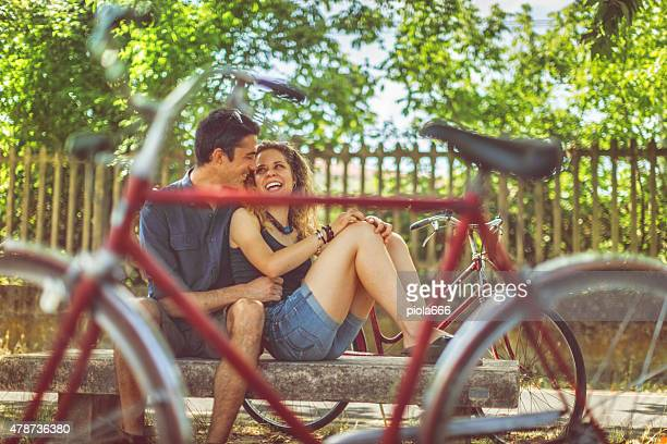 love and bicycles - emilia romagna stock photos and pictures