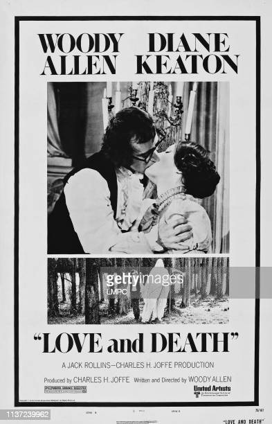 Love And Death poster US poster from left Woody Allen Diane Keaton 1975