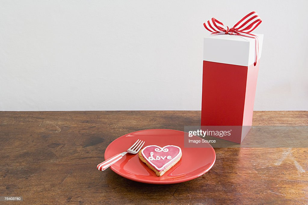 Love biscuit and gift stock photo getty images love biscuit and gift stock photo negle Gallery