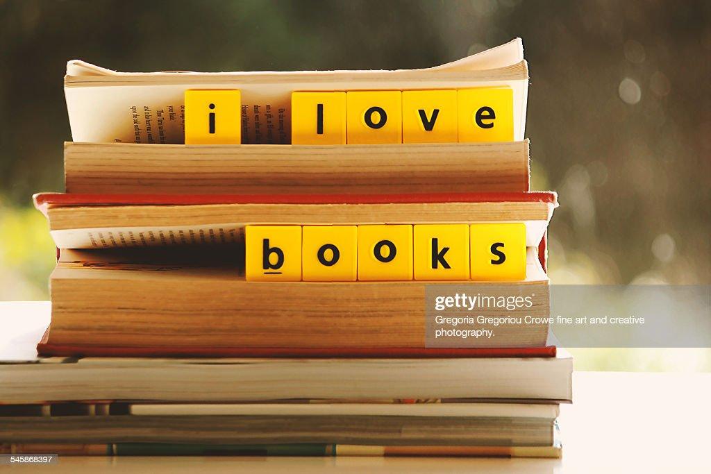 I love books : Stock Photo
