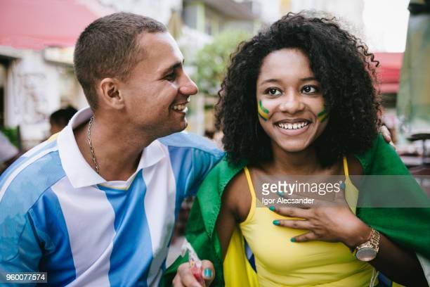 Liebe Brasilien x Argentinien Lüfter