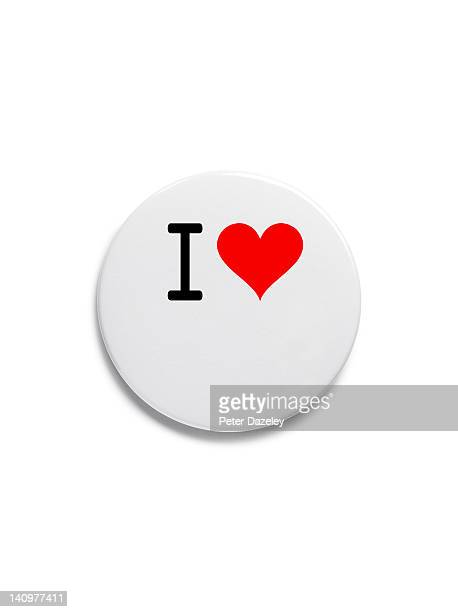 'i love' button badge - i love you photos et images de collection