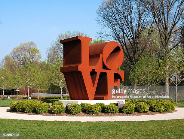 Love by American artist Robert Indiana 1970 Gift of the Friends of the Indianapolis Museum of Art in memory of Henry F DeBoest Restoration was made...
