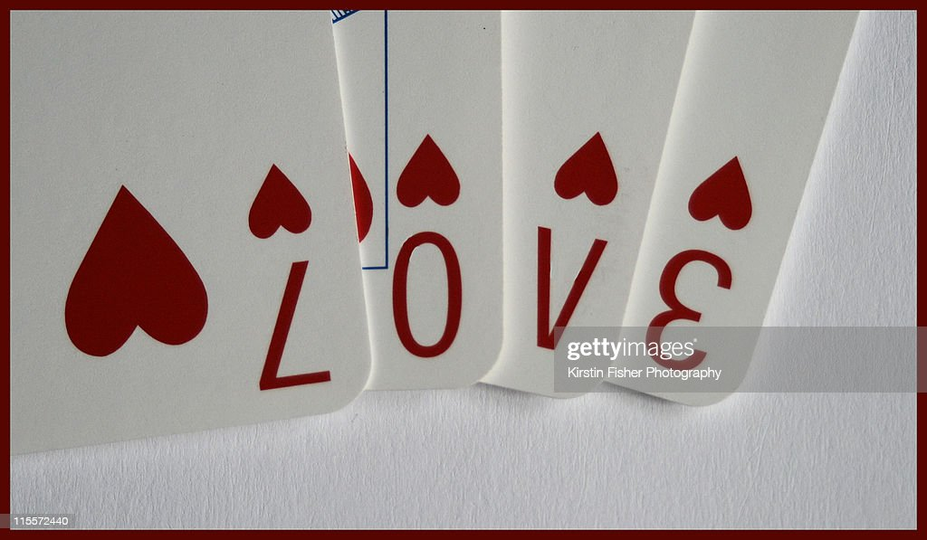 Love by cards : Stock Photo