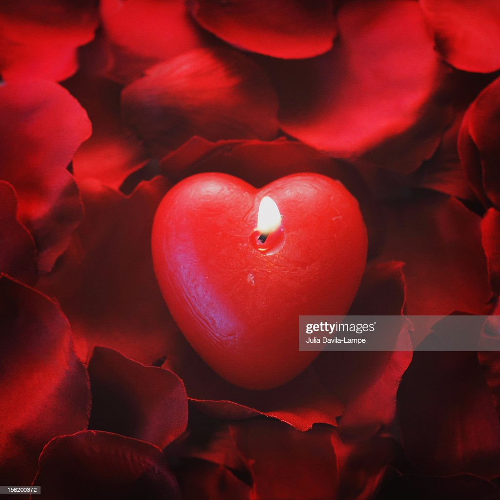 Love candle : Stock Photo