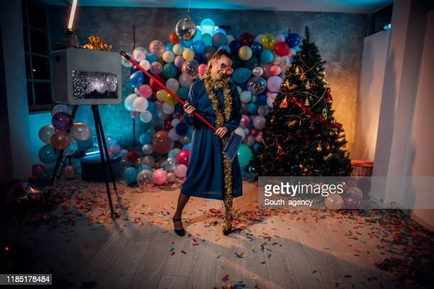 i love cleaning after the party - clean up after party stock pictures, royalty-free photos & images