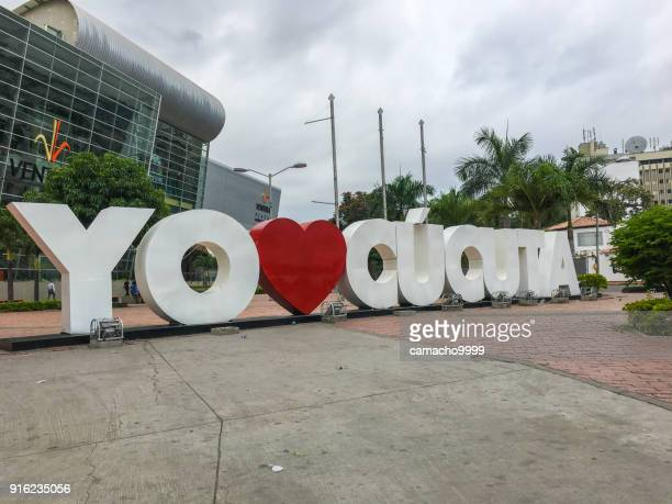 i love cucuta sign - cucuta stock pictures, royalty-free photos & images