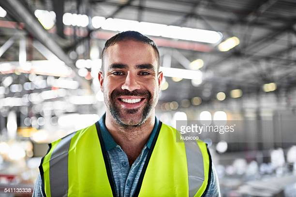 i love every minute in the warehouse! - reflective clothing stock pictures, royalty-free photos & images