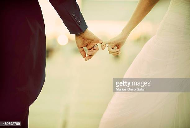 love fingers - wedding ceremony stock photos and pictures