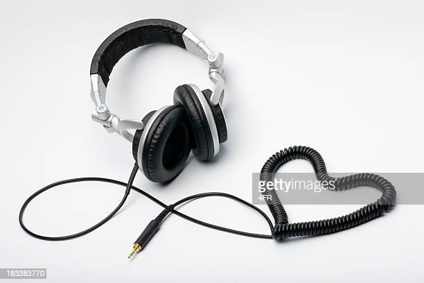 Liebe für Musik-Kopfhörer Herzen (XXXL