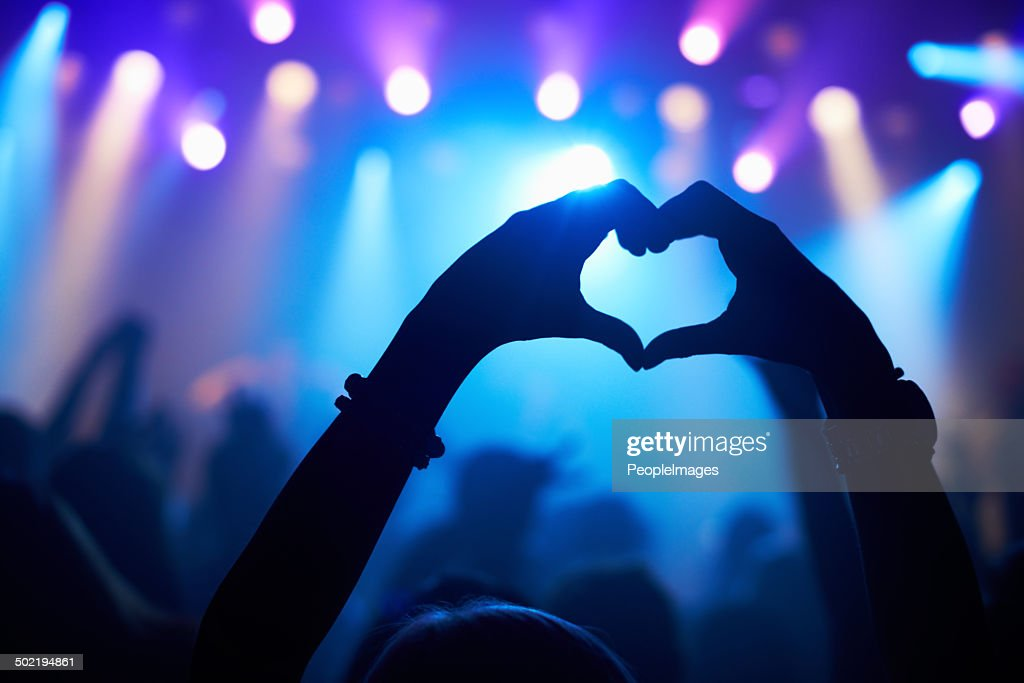 Love from a loyal fan : Stock Photo