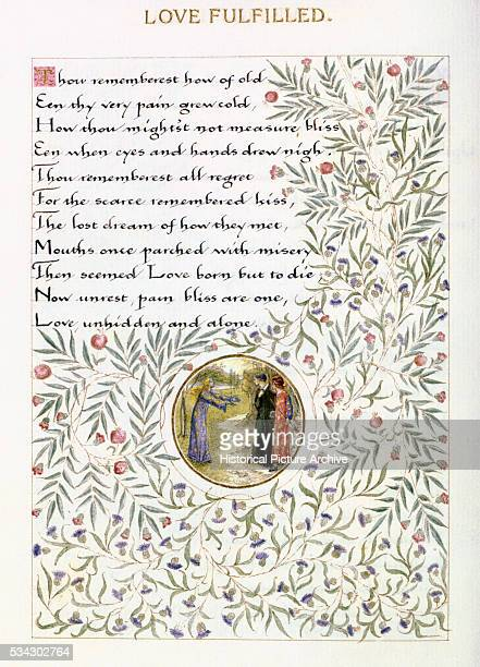 Love Fulfilled Poem Illustration by William Morris