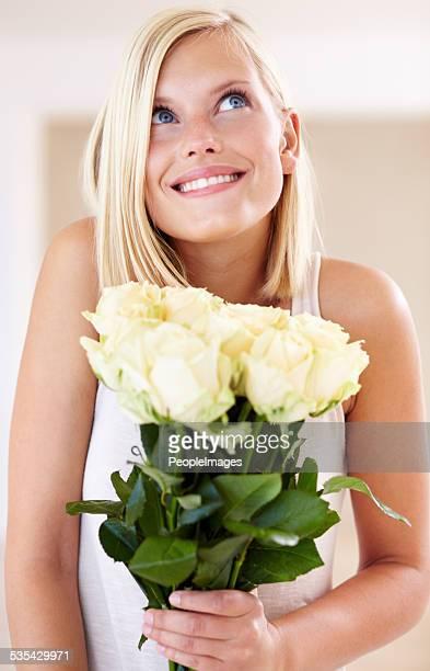 I love getting roses