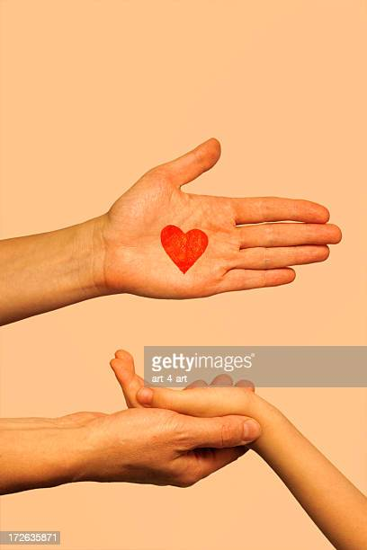 love hands - love you stock photos and pictures