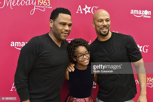 Actors Anthony Anderson Marsai Martin and executive producer Common attend the premiere of Amazon Studios' An American Girl Story Melody 1963 Love...