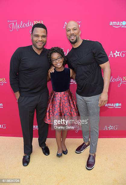 Actors Anthony Anderson and Marsai Martin and executive producer Common attend the red carpet premiere screening of Amazon Original Special An...