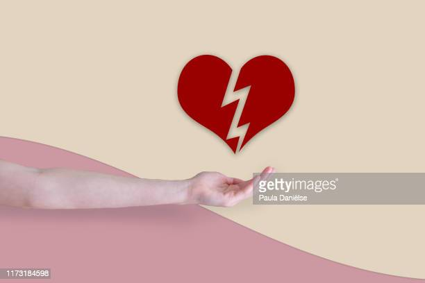love & health - broken heart stock pictures, royalty-free photos & images