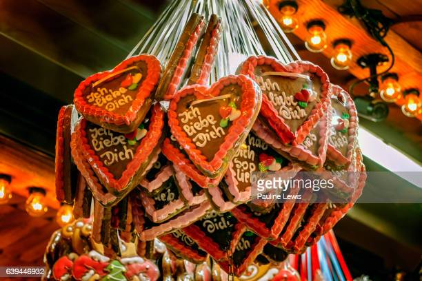 love heart biscuits - birmingham england stock pictures, royalty-free photos & images