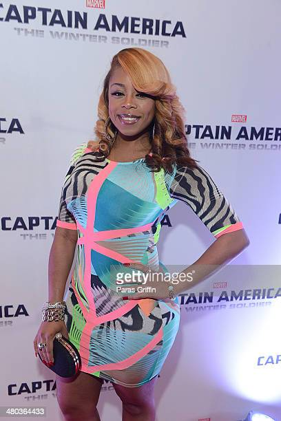 Love Hip Hop Atlanta star Shay 'Buckey' Johnson attends the 'Captain America The Winter Soldier' Atlanta Screening at Cinebistro on March 24 2014 in...