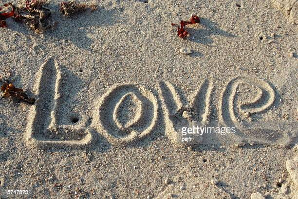 Love in sand - word of emotion