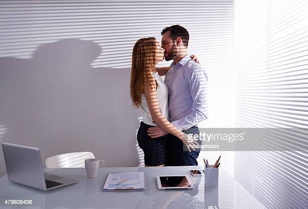 love in the office - love is blind stock pictures, royalty-free photos & images