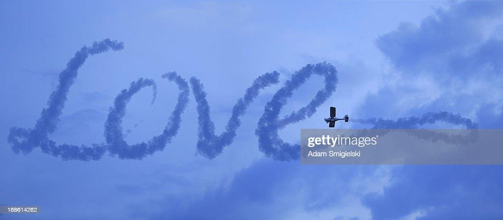 love in the sky : Stock Photo