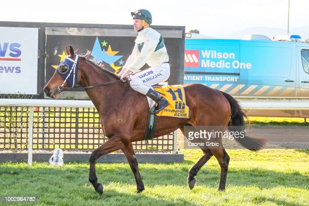 Love is Great ridden by Brian Higgins returns after winning the Nextra Moe 0 58 Handicap at Moe Racecourse on July 21 2018 in Moe Australia