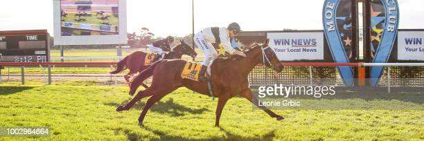 Love is Great ridden by Brian Higgins wins the Nextra Moe 0 58 Handicap at Moe Racecourse on July 21 2018 in Moe Australia