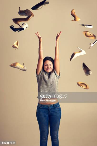 love is in the air and it looks like shoes - throwing stock pictures, royalty-free photos & images