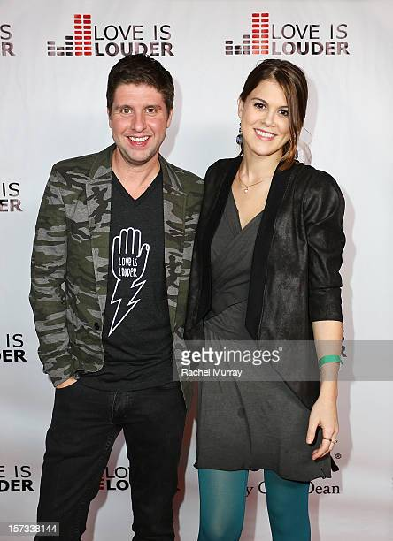 Love is Louder Director Courtney Knowles and actress Lindsey Shaw attend Chaz Dean's holiday party benefitting the Love is Louder Movement on...