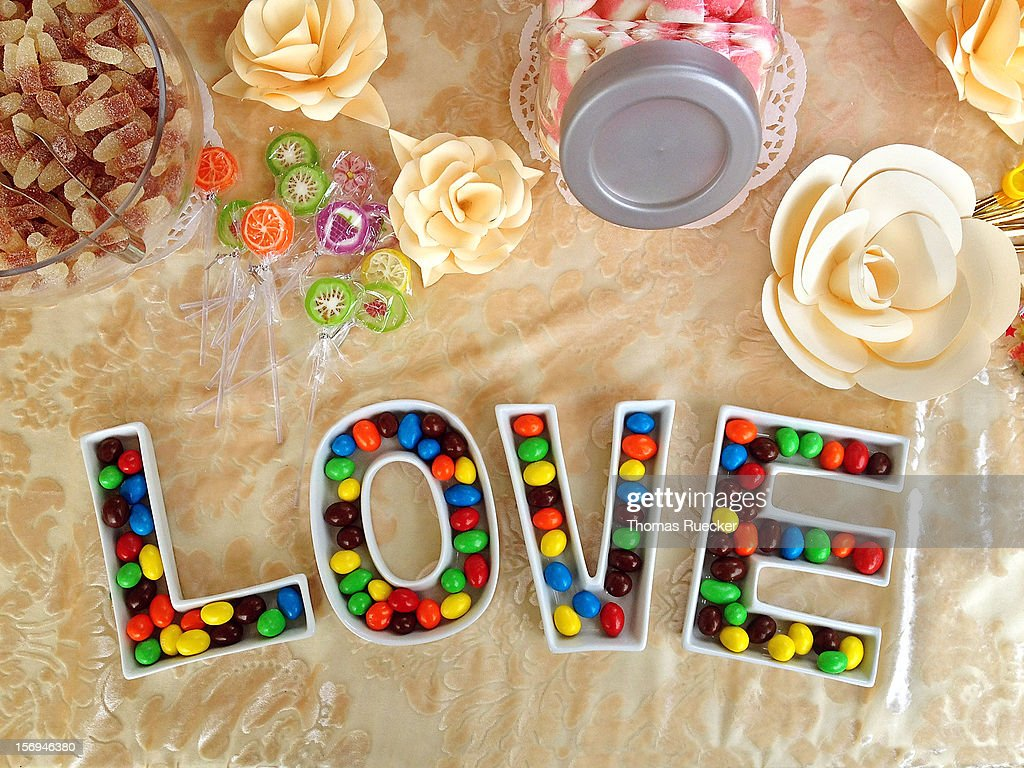 Love is sweet like candies : Stock Photo