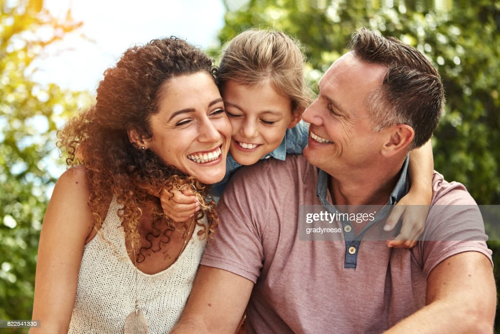 Love is what makes a family : Stock Photo