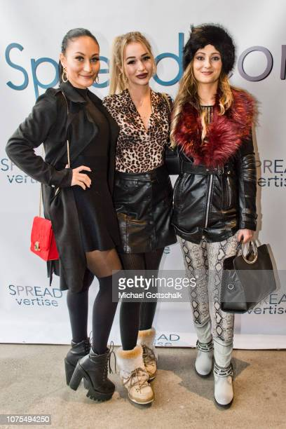 Love Island Girls attend the SpreadCon by Spreadvertise on December 01, 2018 in Cologne, Germany.