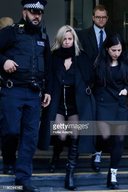 Love Island presenter Caroline Flack leaves Highbury Corner Magistrates Court on December 23 2019 in London England The Love Island host attended...