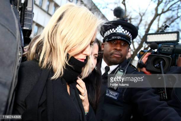 Love Island presenter Caroline Flack leaves Highbury Corner Magistrates Court on December 23 2019 in London England The Love Island host attended...