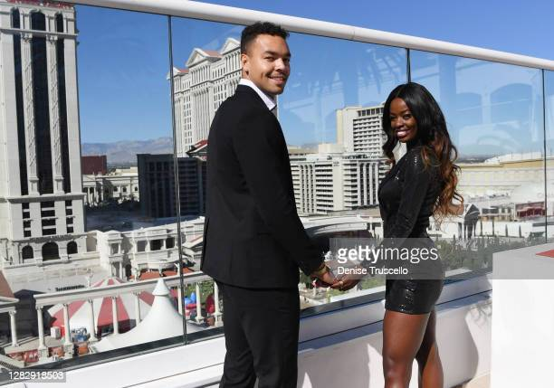 "Love Island"" U.S. Season two winners, Caleb Corprew and Justine Ndiba attend the reopening of The Cromwell, the final strip resort to reopen and the..."